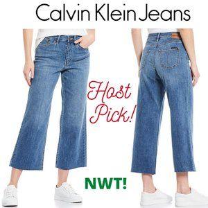 🎉HP Calvin Klein High Rise Wide Leg Cropped Jeans